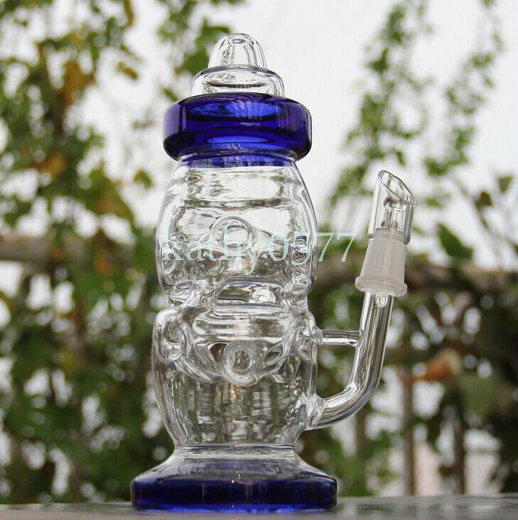 BONG! New high teach Baby Bottle Oil Rigs water pipe glass bongs with pinholes diffusor with 14.5mm joint sturdy quality glass