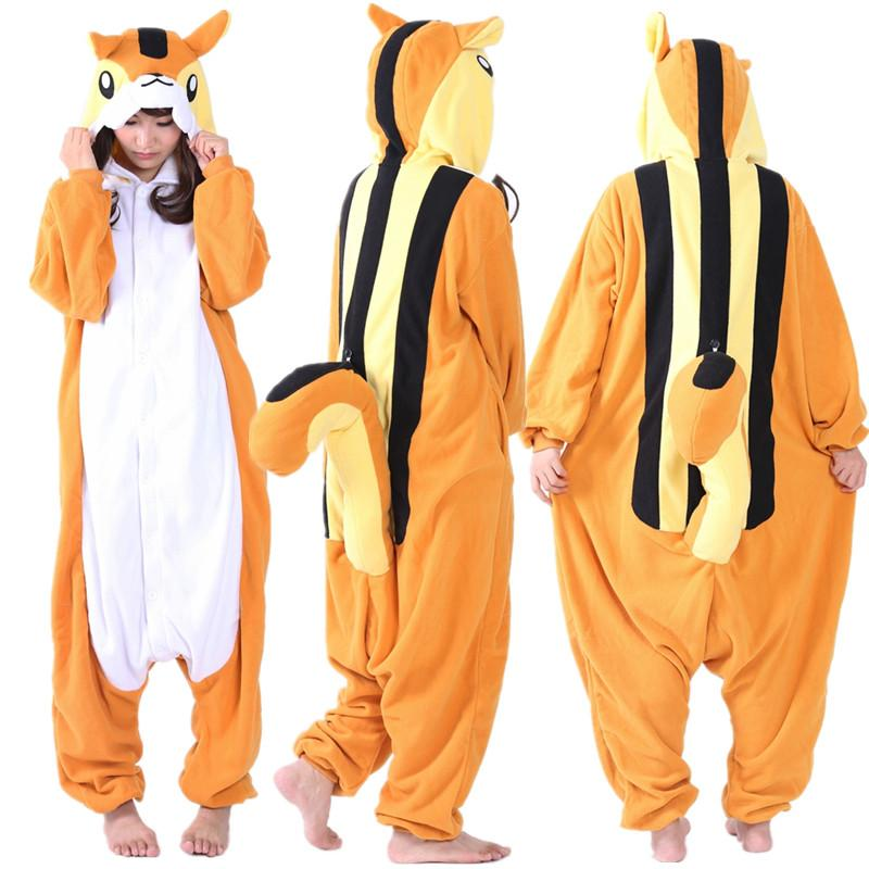 ss newest cosplay anime orange squirrels onesie halloween costumes adult women men pajamas christmas jumpsuit romper fleece halloween costumes for 4 people