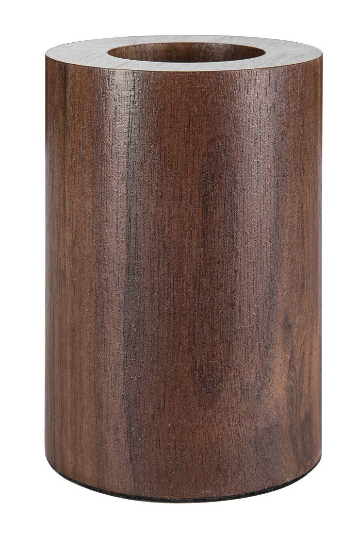 Pequeñas lámparas de mesa de nogal negro circular de madera con personalidad creativa lámpara de escritorio nostalgia retro luces E27 LED lámpara