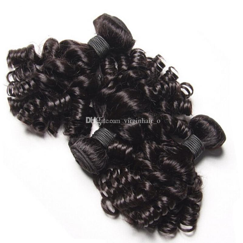 Malaysian Funmi Hair With Closure Cheap 9A Aunty Funmi Hair With Lace Closure Funmi Hair Bouncy Curls With Full Lace Frontals