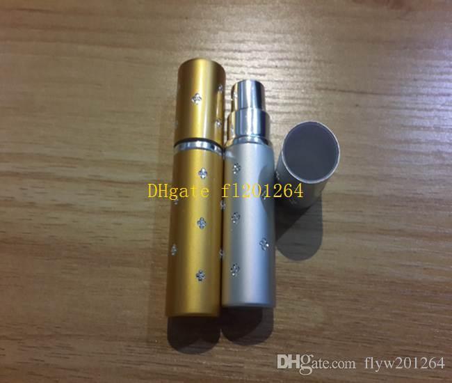 100 pçs / lote Frete Grátis 5 ML Mini Portátil Maquiagem Aftershave Recarregável Perfume Vazio Garrafa Spray Atomizador Com estrela,