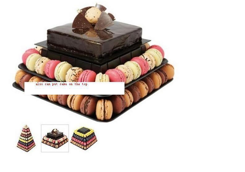wedding dessert table decoration cake stand Macaron Tower 9 Tier Square Macaron Display Wedding Birthday Party Christmas Dessert Display