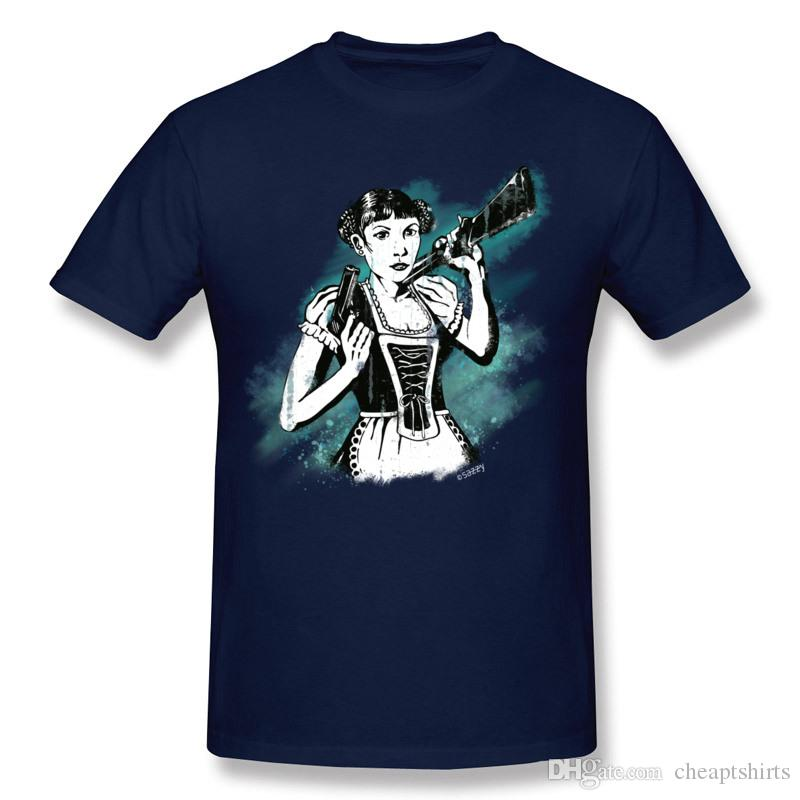 Cool summer & autumn tee shirts for boys navy blue mens short sleeve tshirts drop shipping unique painting print t-shirt Nightmare Girl