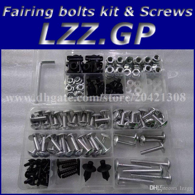 Fairing bolts kit screws for HONDA CBR1100XX 1996-2005 CBR1100 XX 96 97 98 99 00 01 02 03 04 05 Fairing screw bolts Black silver