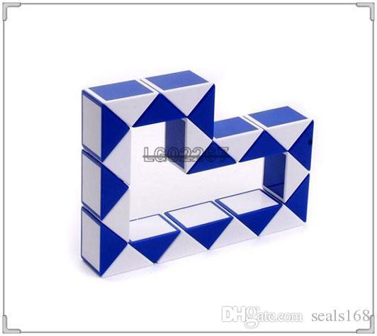 Mini Magia Cobra Forma Toy Game Cube 3D Puzzle torção enigma Presentes Toy presente aleatório Intelligence Brinquedos SUPERTOP DHL ZJ-T03
