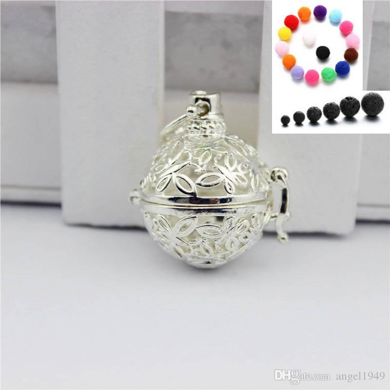 Diffusor Halsketten Schmetterlingsform Ätherische Öle Aromatherapie Diffusor Medaillon Halskette Lava Steinperlen mit 24 Zoll Kette