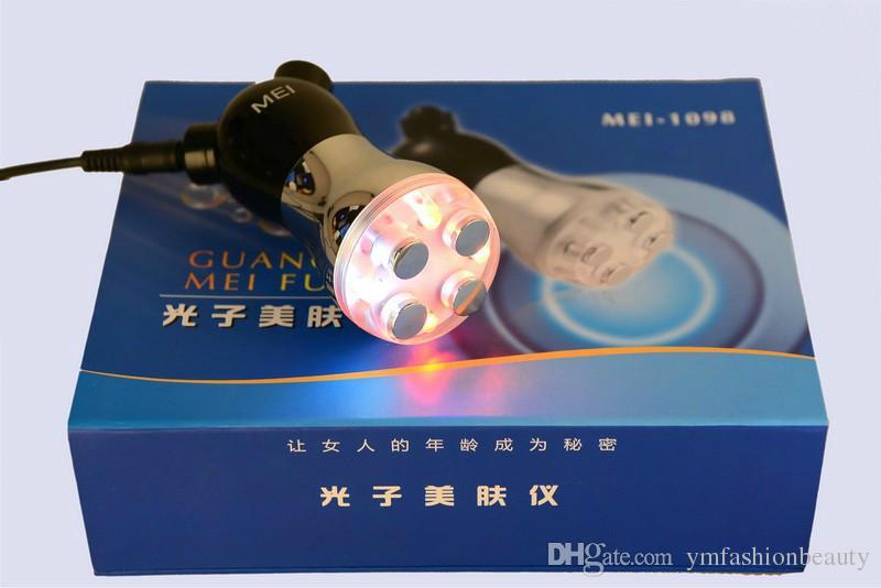 휴대용 장치 광자 광통신 요법 Mesotherapy Mesoporation 바늘없는 LED 빛 미세 전류 아니 바늘 치료 RF Facial Machine