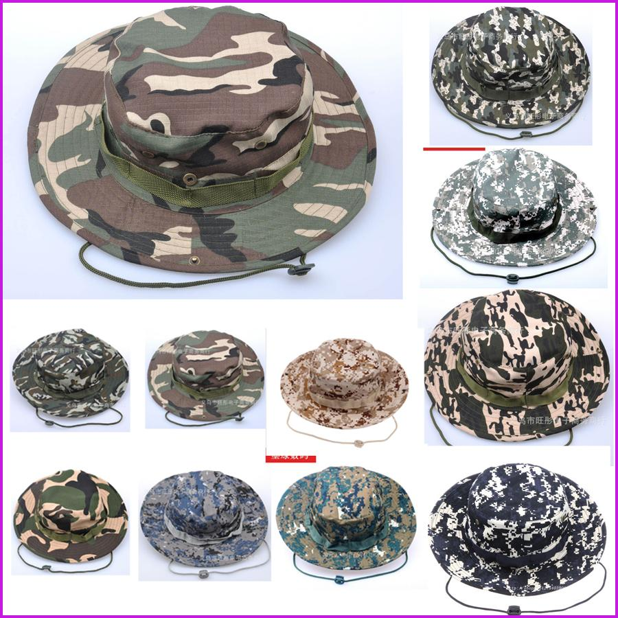 90aac2b949b0c 2019 Unisex Bucket Hats Outdoor Jungle Military Camouflage Bob Camo Bonnie  Hat Fishing Camping Barbecue Cotton Mountain Climbing Hat From Aanyfeige