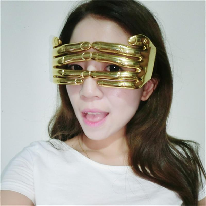Halloween Costumes Funny Glasses 17x7.5cm Party Gold Fingers Adult ...