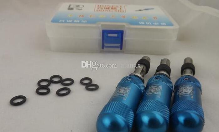 3 stks / Extended buisvormige pick slotenmaker 7pin buisvormige verstelbare manipulatie slot pick tools universele sleutel diameter incloud 7.0 / 7.5 / 7,8 mm