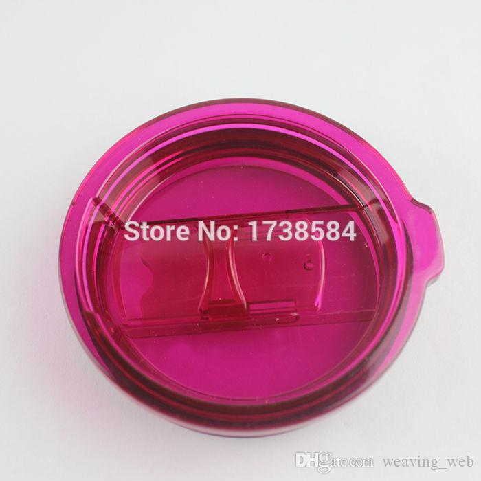 새로운 다채로운 컵 뚜껑 튀김 누출 증거 뚜껑 30 온스 컵 뚜껑 머그잔은 맥주 야외 커피를위한 와인 유리 텀블러 컵을 다룹니다