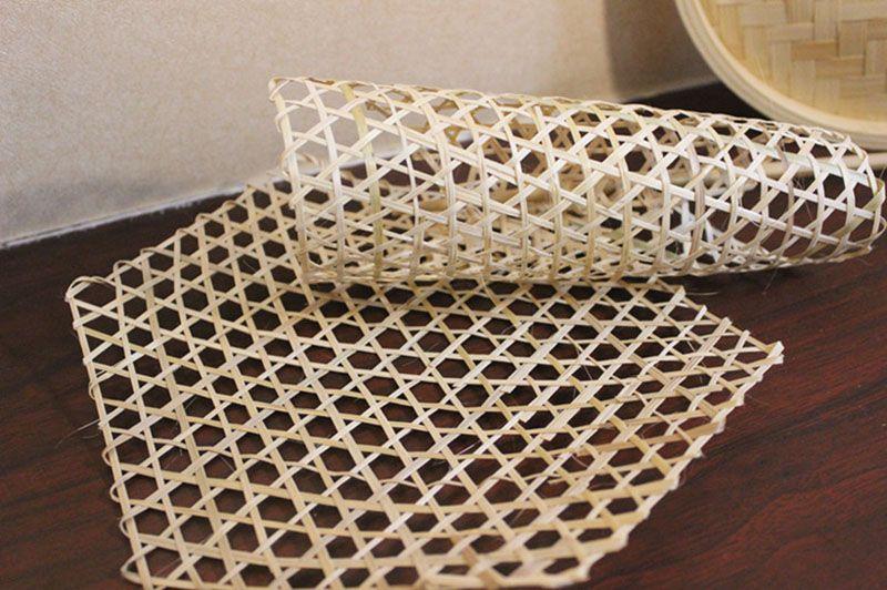 Table bambou tissé napperons coaster 3sizes isolés légumes à mailles de vaporisation de support de pot mat chaud pliage doublures de panier de cuisson décor artisanal