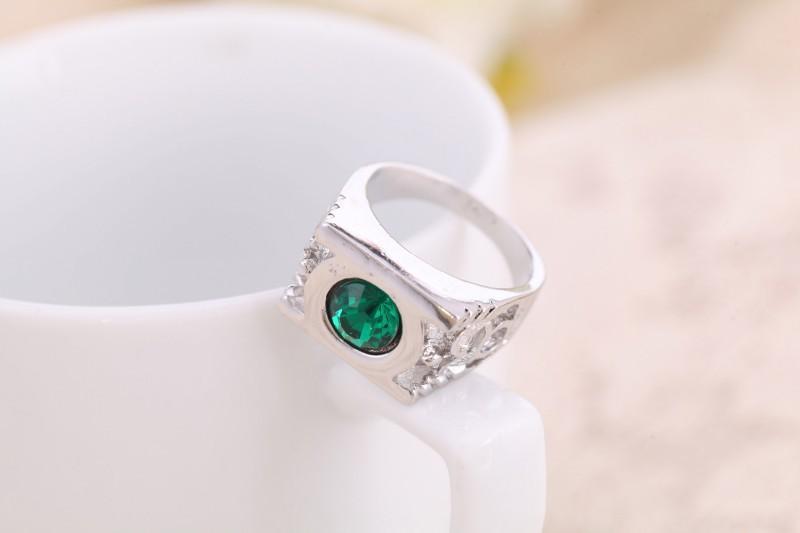 Erkekler Yüzük Yeşil Yeşil Fener Zümrüt Nişan Alyans Erkekler Için Hakiki 925 Şerit Mücevher Taş Güzel Takı Kadın Erkek Taş Yüzükler