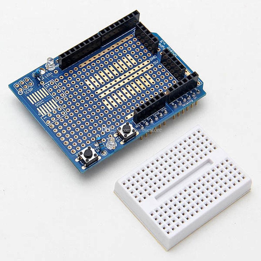 Arduino 328P MEGA Prototyp Shield ProtoShield V3 Erweiterung Mini Bread Board B00289