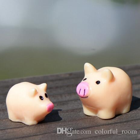 2018 Artificial Mini Cute Pig Animals Ornaments Miniatures For Fairy Garden  Gnome Resin Crafts Bonsai Bottle Garden Decoration From Colorful_room, ...
