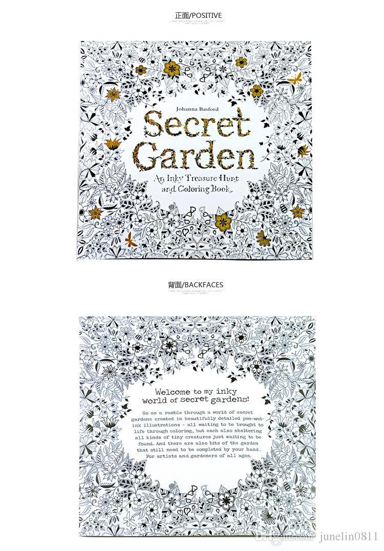 Satın Al Gizli Bahçe Boyama Kitabı Boyama çizim Kitabı 24 Sayfa