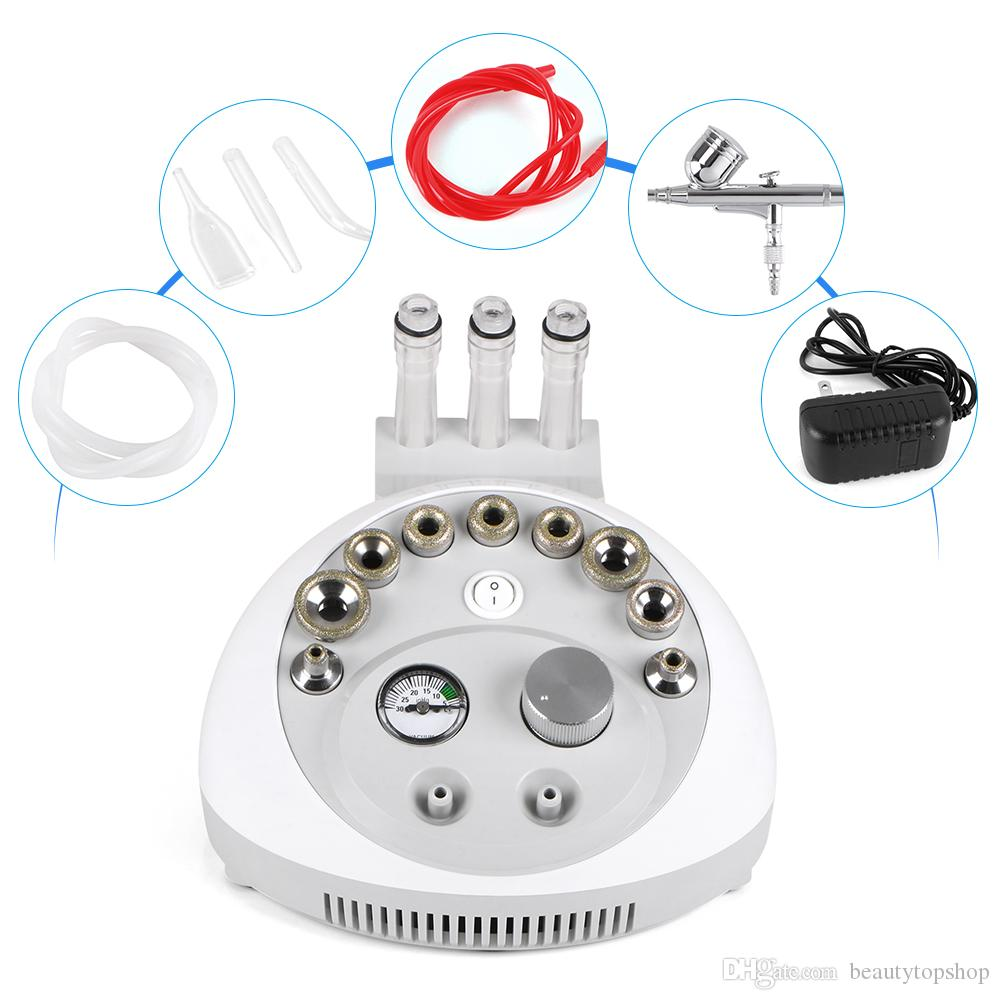 Mini Diamond Microdermabrasion Dermabrasion Facial Peel Vacuum Spray Machine GLOGLOW Salon Steamer Machine,eecoo 2 in1 Spa Personal Table Face & Hair Mini Facial Salon Hot Steamer Machine Salon Steamer Machine