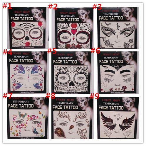 9c3cf562d36b4 Hot Sale Fright Night Temporary Face Tattoo Body Art Chain Transfer Tattoos  Temporary Stickers In Stock 9 Styles Temporary Tattoo Shop Temporary Tattoo  ...