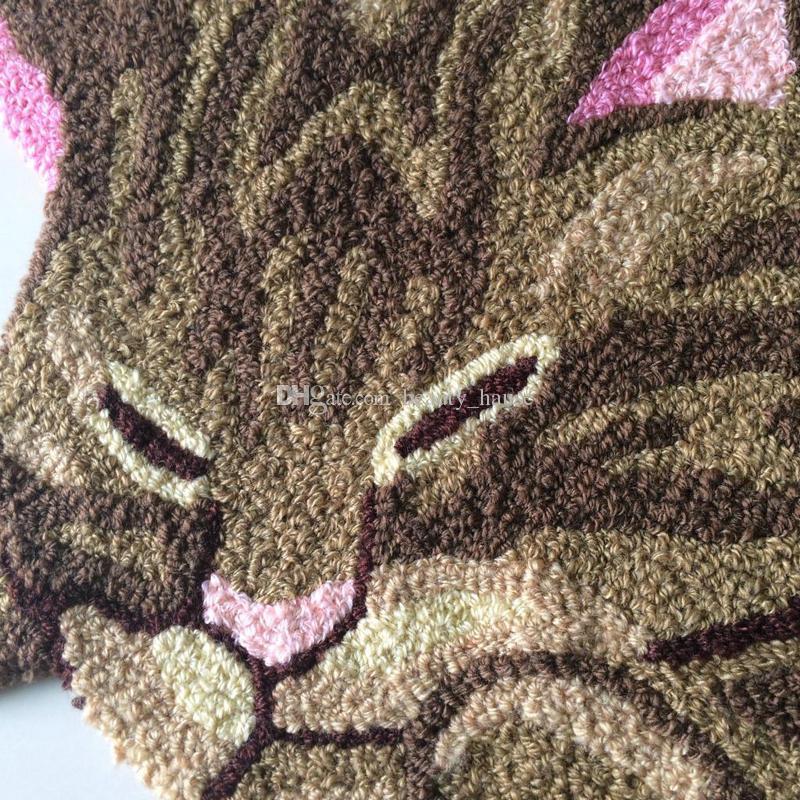 매트 거실 문 매트 카펫, 참신 놓은 현관 앞에서 바보 층 Karpet 주방 매트 선물 모양의 패션 손 걸려 생생한 고양이