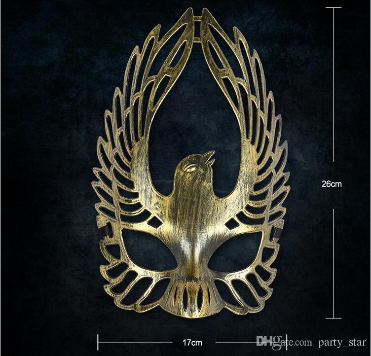 Hommes rétro immortel oiseau Phoenix Feather Halloween Masquerade Masques