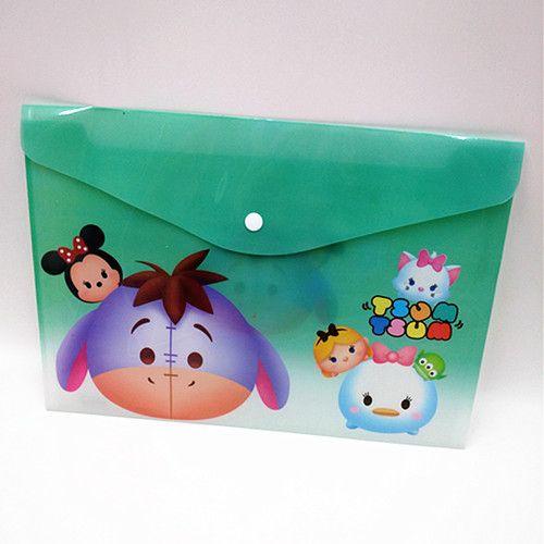Tsum Tsum Cartoon A4 plastic Waterproof Document pocket bill pouch file Pen Filing Products Pocket Folder Office & School Supplie
