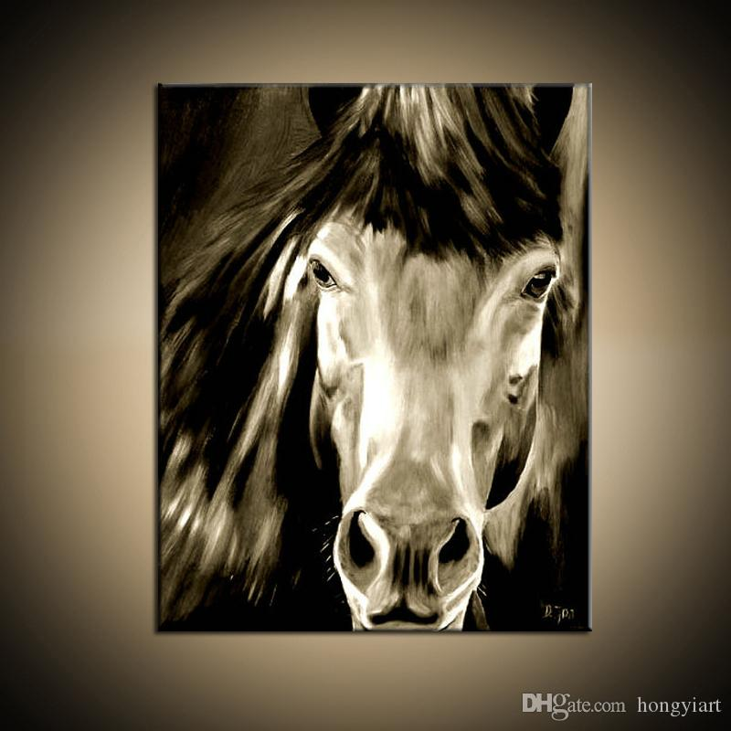 Hot Sell 100% Pure Hand Painted High Quality Modern Living Room Home Decoration Wall Art Animal Horse Oil Painting Canvas.Multi Sizes Hot03