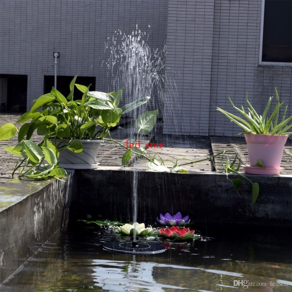Nueva bomba de agua solar Power Panel Kit Fuente de la piscina Garden Pond Pantalla de riego sumergible con English Manaul