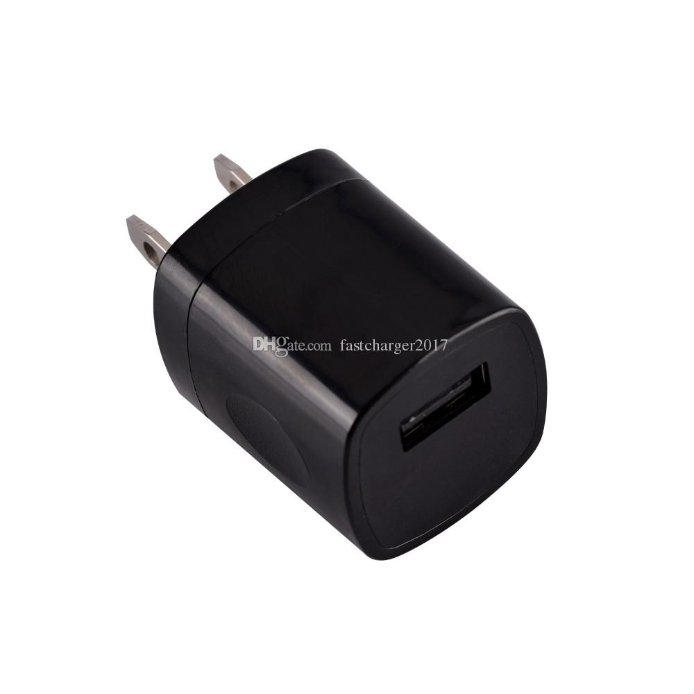 5 V 1A US CA Viagem Carregador de Parede Power Plug para Samsung S8 S10 Nota 10 HTC Android Phone PC MP3