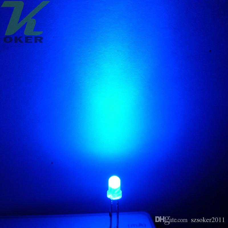 2018 3mm Blue Diffused Led Light Lamp Led Diodes 3mm Diffused Blue ...