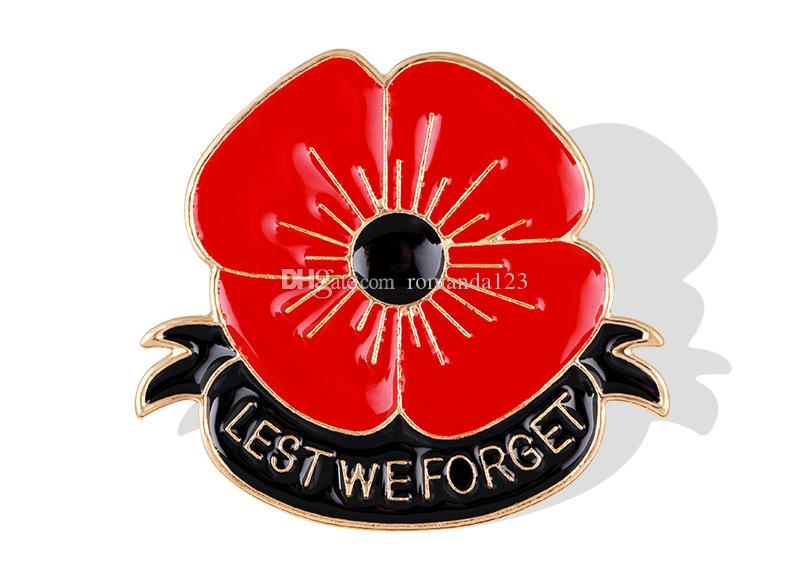 Lest we forget enamel red poppy brooch pin badge golden flower lest we forget enamel red poppy brooch pin badge golden flower remembrance day gift dhl lest we forget brooch enamel red poppy brooch remebrance day gift mightylinksfo