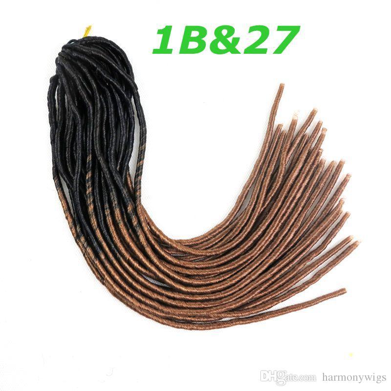 옹 브르 가짜 Locs 크로 셰 뜨개질 머리카락 조각 kanekalon 머리카락 20inch 합성 머리 꼬임 머리카락 확장