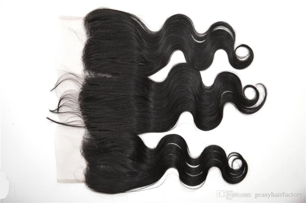 Lace Frontal Bundles Peruvian Virgin Hair Body Wave Silk Base Frontal Closure With Human Hair Wefts LaurieJ Hair