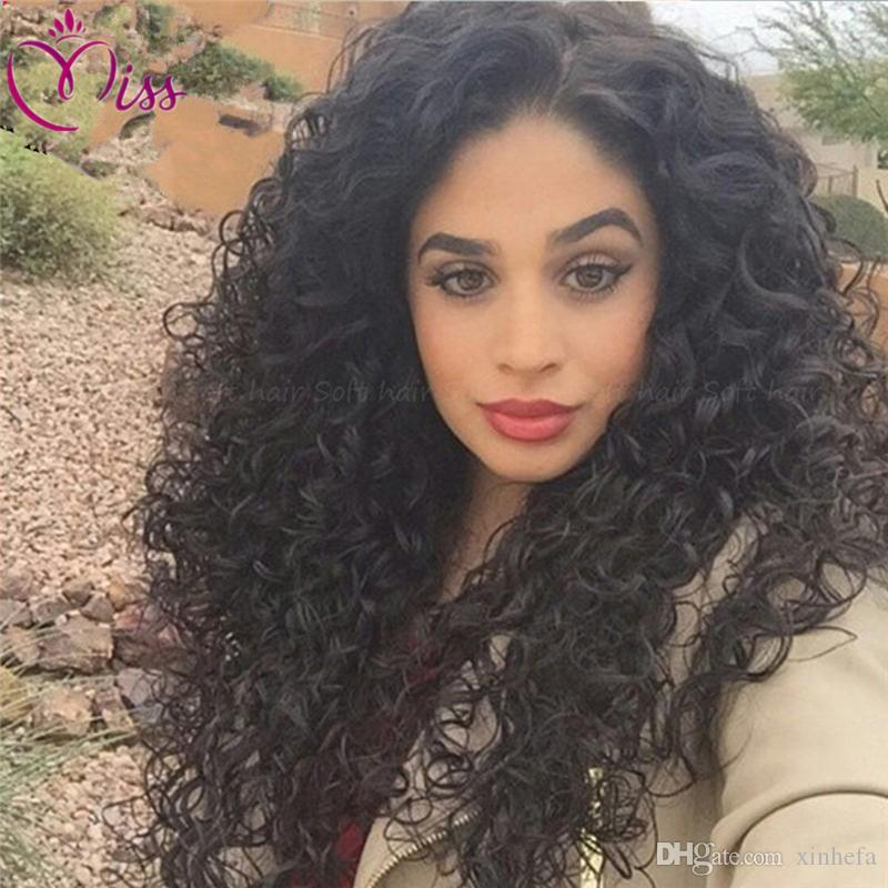 7A Glueless Full Lace Human Hair Wigs For Black Women 150% Density Malaysian Hair Kinky Curly Lace Front Human Hair Wigs