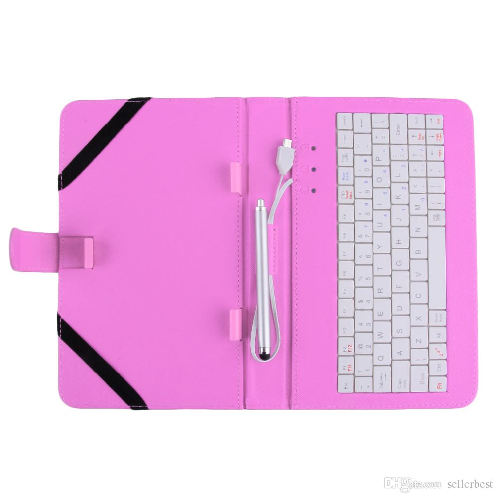 Funda de cuero con teclado USB para 7