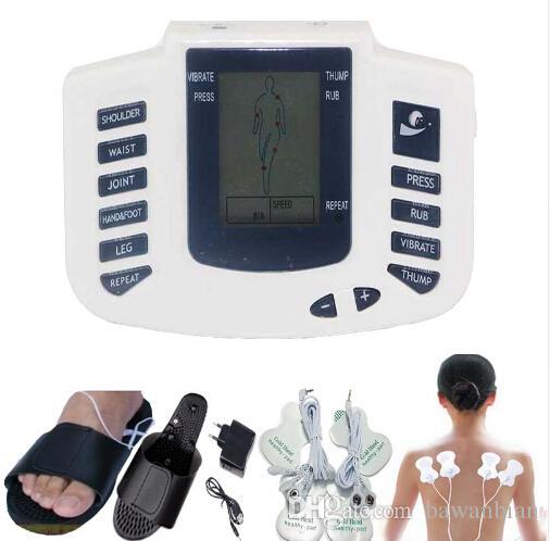 Электрический Массажер Для Всего Тела Расслабиться Мышечной Терапии Здравоохранения Массажер Пульс Десятки Акупунктурная Терапия Тапочки + 8 колодки