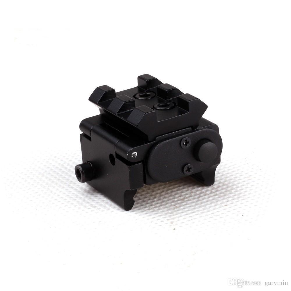 Мини-регулируемый компактный тактический Красный точечный лазерный прицел, пригодный для пистолета с рельсовым креплением 20 ммht034
