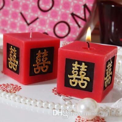 / 웨딩 양초 더블 행복 촛불 양초 웨딩 선물 무연 향기 나는 왁스 아로마 테라피 장식