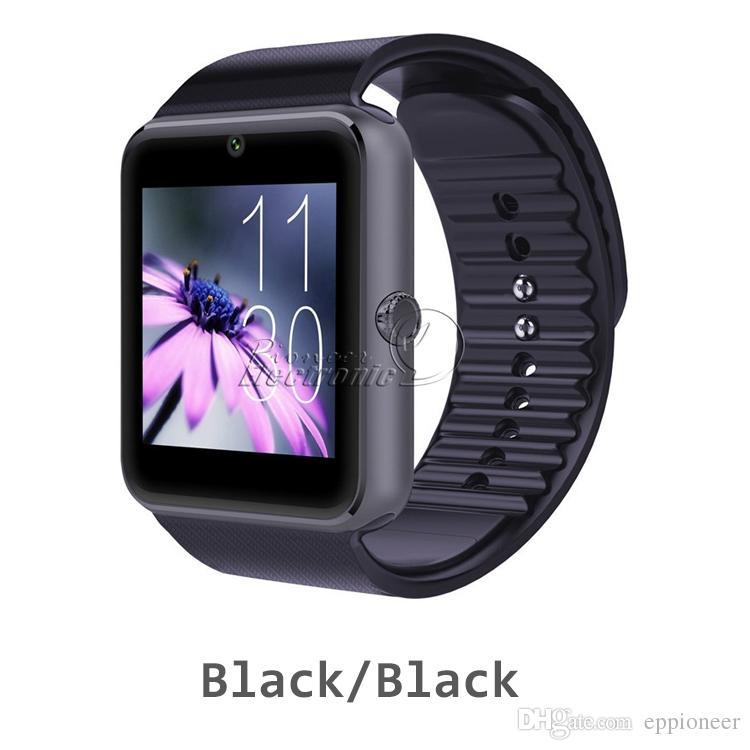 SIM Kart Yuvası ile GT08 Bluetooth Smart İzle ve Android Samsung NFC Sağlık watchs ve IOS Apple iPhone Smartphone Bilezik Smartwatch