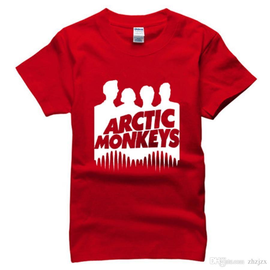 Arctic Monkeys Men T Shirt Fashion Rock Music Adults Hip Hop Cotton Man Shirts Plus Size Brand Clothing Tees Camisa AMD255