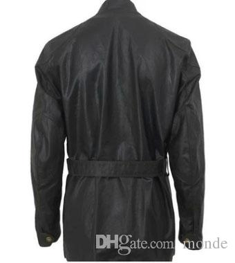 2016 Yüksek Kalite sıcak yeni ceket erkek ceket Eğik cep Standı yaka erkek ceket siyah erkek giyim ile kemer