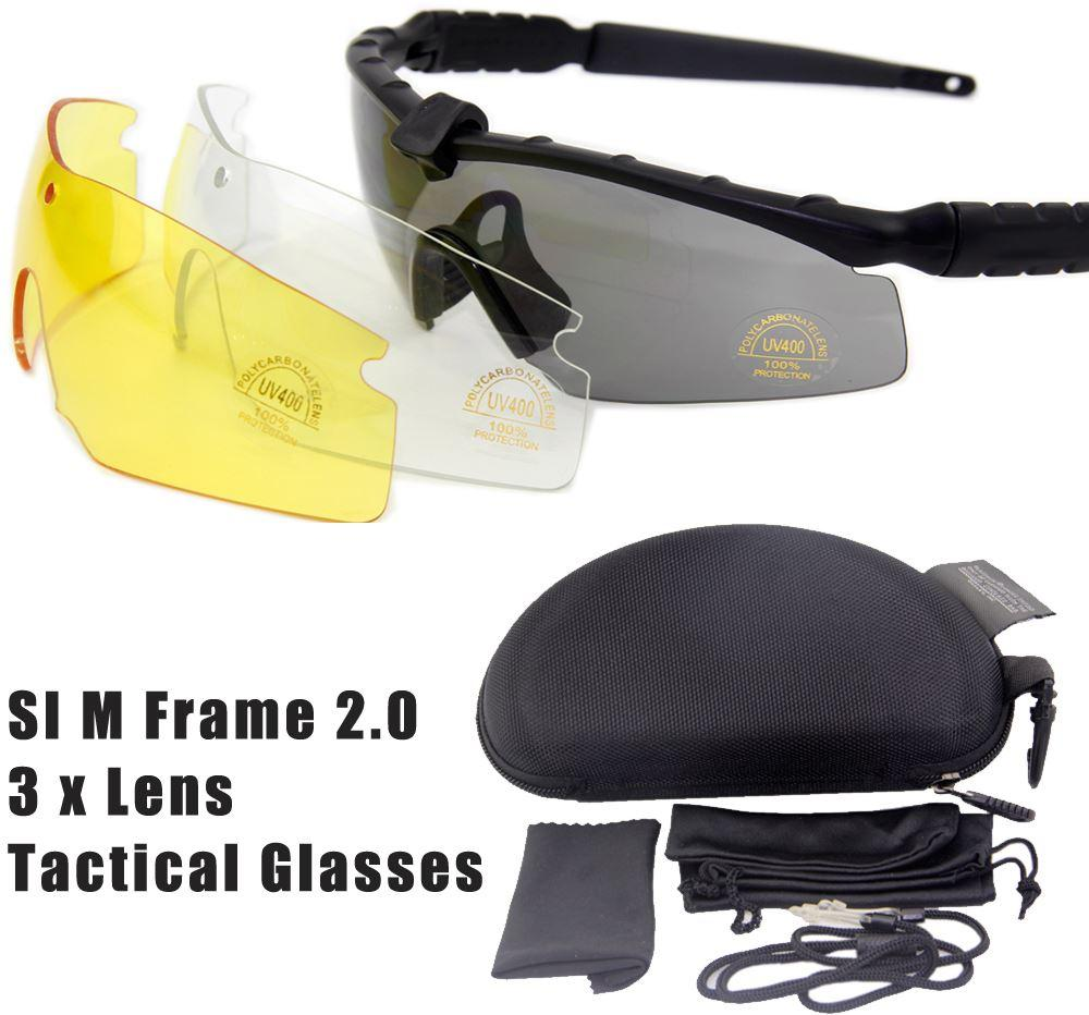 si bal m frame 20 3 lenses tactical goggles windproof mirror shooting sunglasses bicycle cycling eyewear free shipping - M Frame Lenses