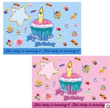 Mon Affiche D Anniversaire Thème 1er Anniversaire Ou Papier Peint De Vacances Pour La Décoration De Maison Préférée Des Enfants Du Parti