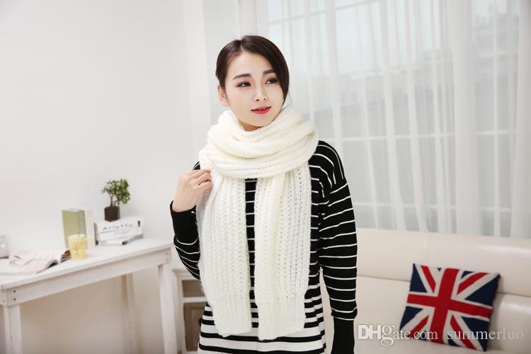 2016 New Fashion Unisex autunno inverno sciarpa donna Warm Knit Neck Cerchio Lana Miscela Cappuccio Snood Anello Sciarpe Lunga Sciarpa Scialle Wrap SW0010