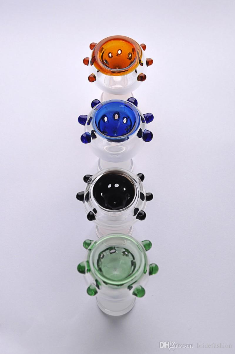 Smoking Dogo New Arrival 14 mm or 18 mm female joint Glass Bowl for smoking pipe Glass bubbler and Ash Catcher Glass smoking nail Oil rigs