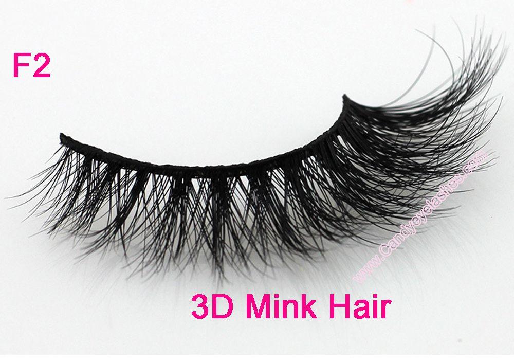 F2 Livraison gratuite 3D vente chaude en gros belle longue et épaisse cils strisscross bande 3D vison cils 3D Mink Full Strip faux cils