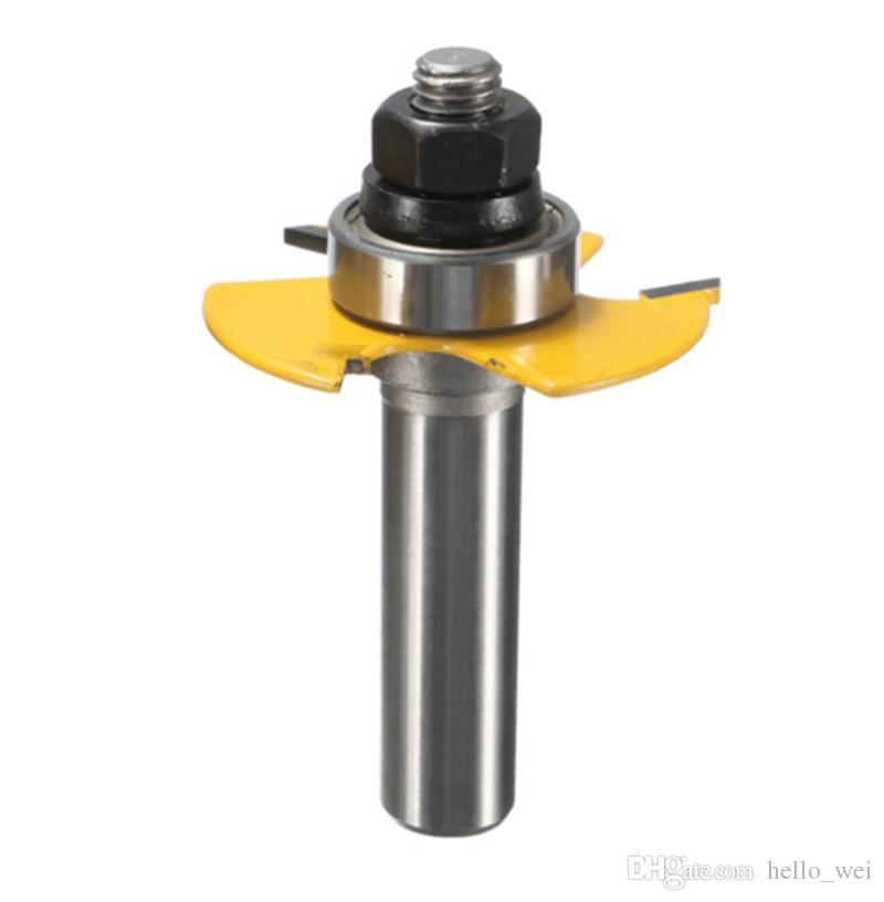 Durable im Einsatz Eine Set Router Bit -1/2 1/4 Schaft Einstellbare Rabbet Für Holzbearbeitung Werkzeug Lange Lebensdauer Handwerkzeuge