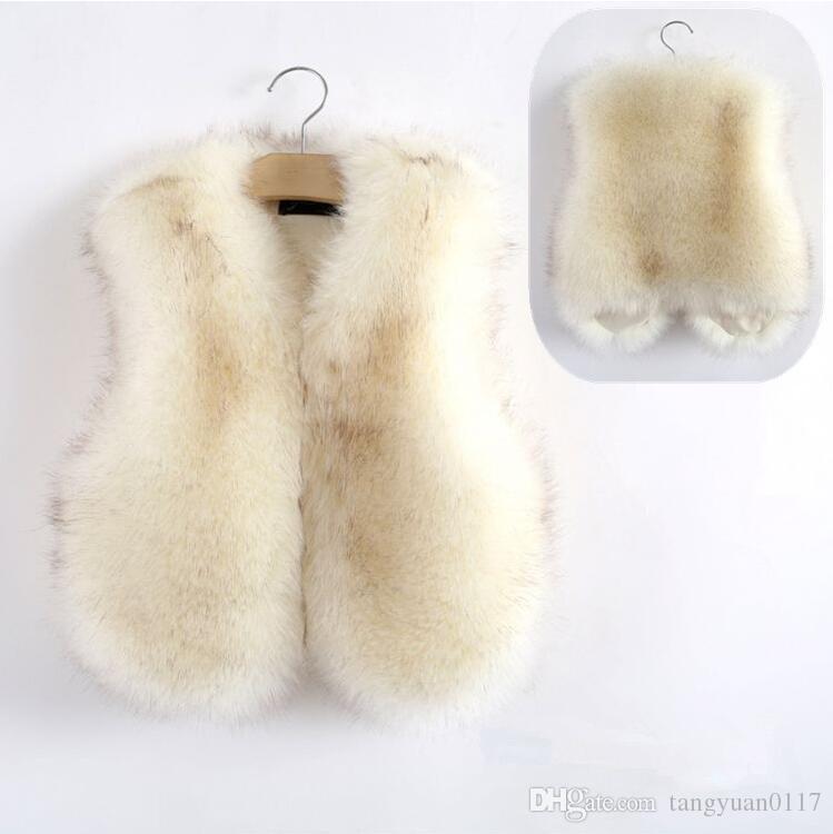 4799b33c4 2017 Baby Autumn Winter Vest Waistcoat Children S Fur Vest Boys ...