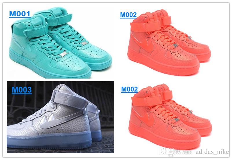 low priced 2909b 9cee1 2019 2016 New Air Force 1 High Supreme X Bright Fluorescent Light Leather Air  Force One Running Shoes AF1 Women Men Sports Skateboarding Shoes From ...