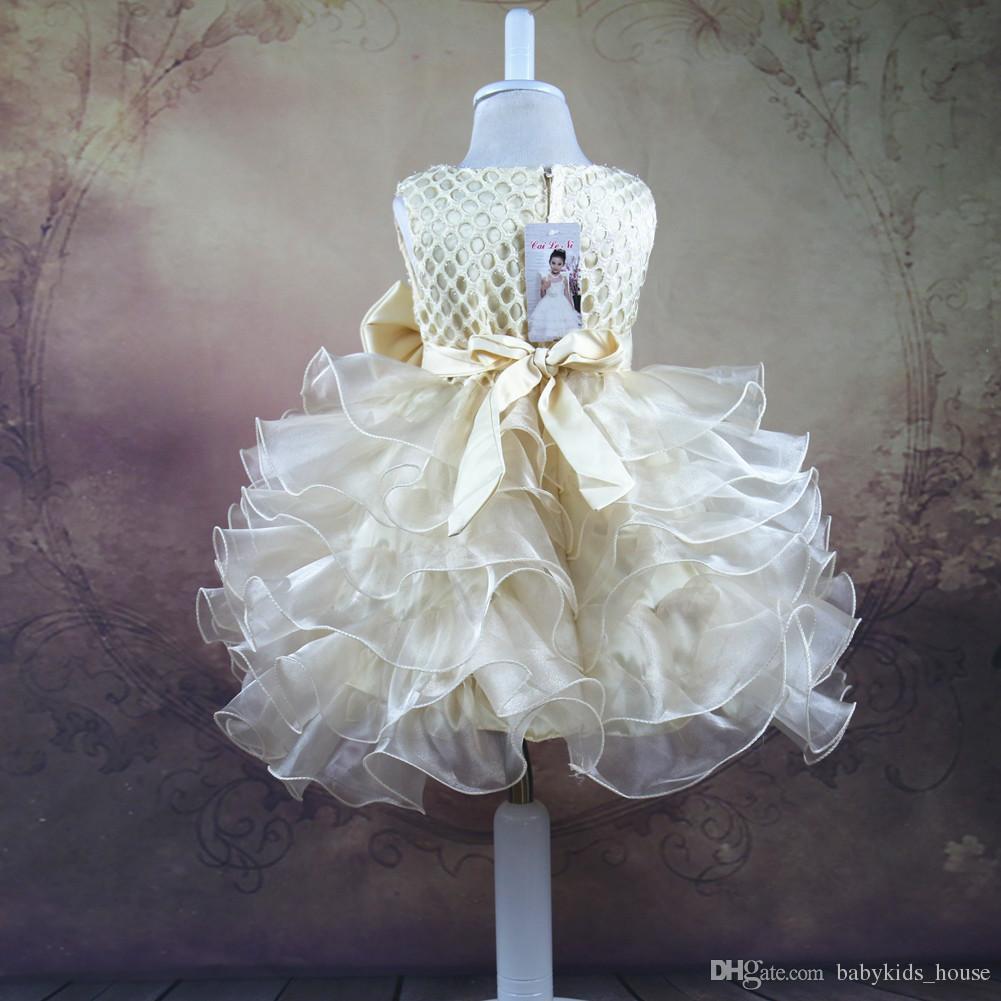 Baby Girl Dress Lato 2017 Dzieci Odzież Weselna Kostium Party Dla Dziewczyn Urodziny Odzież Dzieci Toddler Princess Suknie