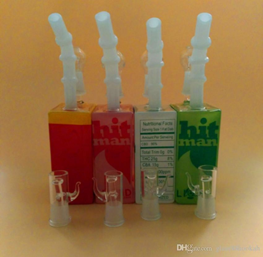Glass pipes Manufacturer saleswholesale hitman Mini Liquid glass rigs Glass Cereal Box oil Rig male joint 14.4 mm